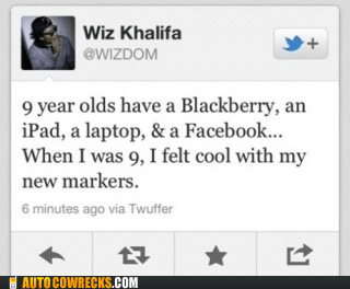 blackberry,ipad,laptop,markers,spoiled,twitter,wiz khalifa