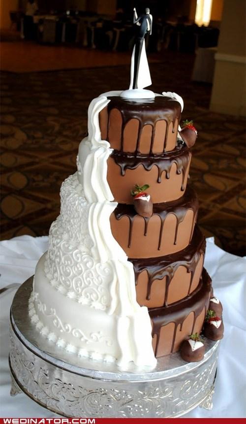 bride funny wedding photos groom wedding cake - 5671608064
