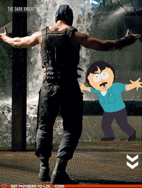 bane batman fight randy marsh scene South Park surprise the dark knight rises tom hardy trey parker - 5671643904