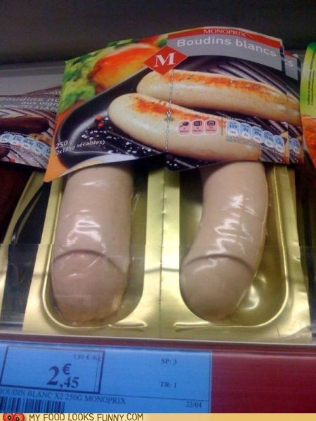 packaged phallic sausages white whoa - 5671719680