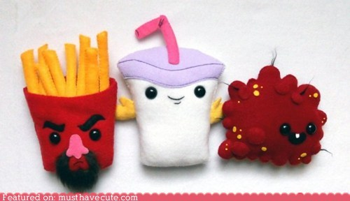 aqua teen hunger force cartoons characters felt Plush