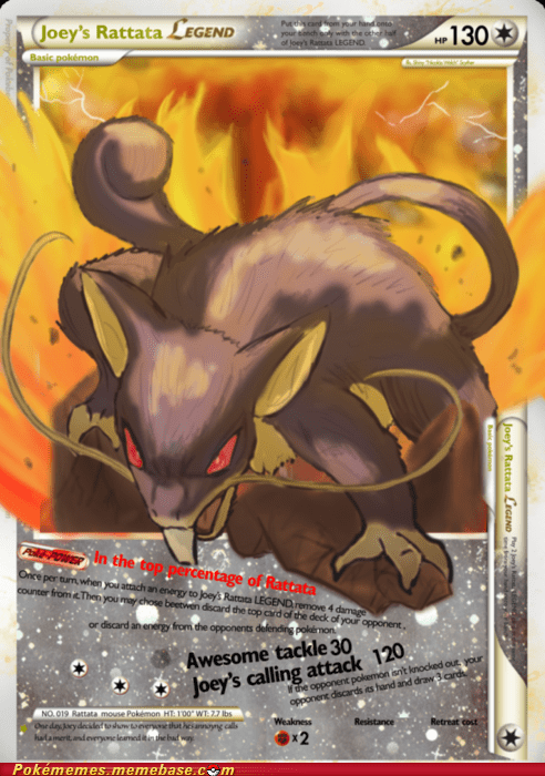 art awesome legend meme Pokémemes rattata TCG - 5671854592