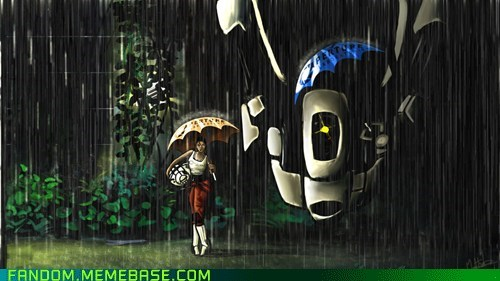 crossover,Fan Art,my neighbor totoro,portal 2