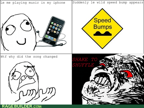driving,ipod,Rage Comics,raisin rage