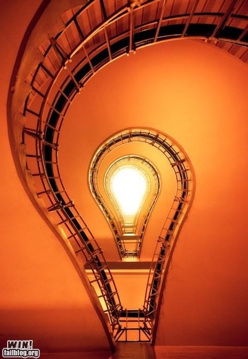 architecture clever design idea light bulb staircase - 5672141824
