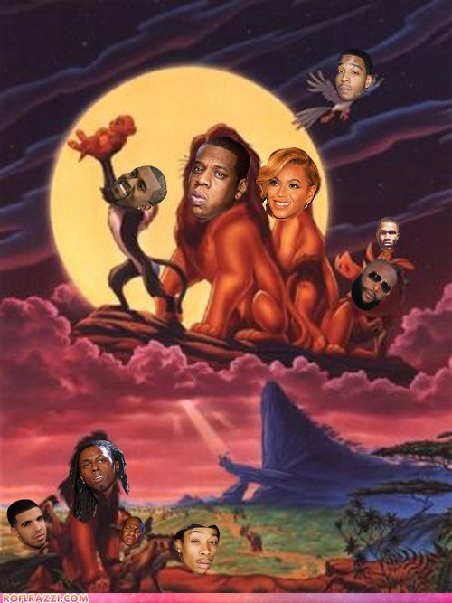beyoncé disney Drake funny Jay Z kanye west lil wayne Movie rick ross shoop the lion king - 5672198912