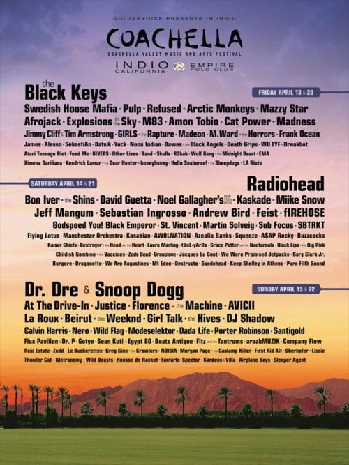 coachella,Music Festival Lineup