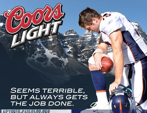 Ad beer coors light fosters ndamukong suh Ray Lewis tim tebow tom brady - 5672461056