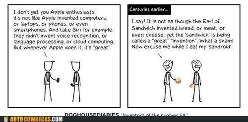 analogy,apple,apple fanboys,comic,sandroid,sandwich,siri