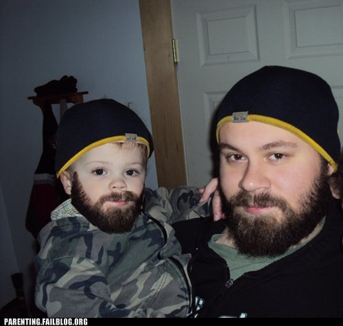 baby,beard,clever,dad,facial hair,Father,How to Dress Your Child,Parenting Fail,photoshop