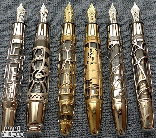 art,design,g rated,Hall of Fame,nerdgasm,office supplies,pen,Steampunk,win