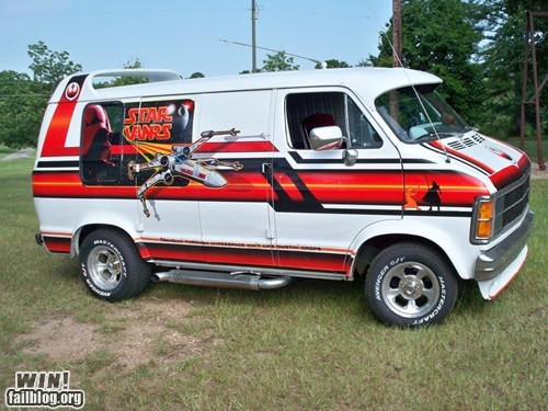 car custom driving nerdgasm paint job painting star wars van - 5672524032