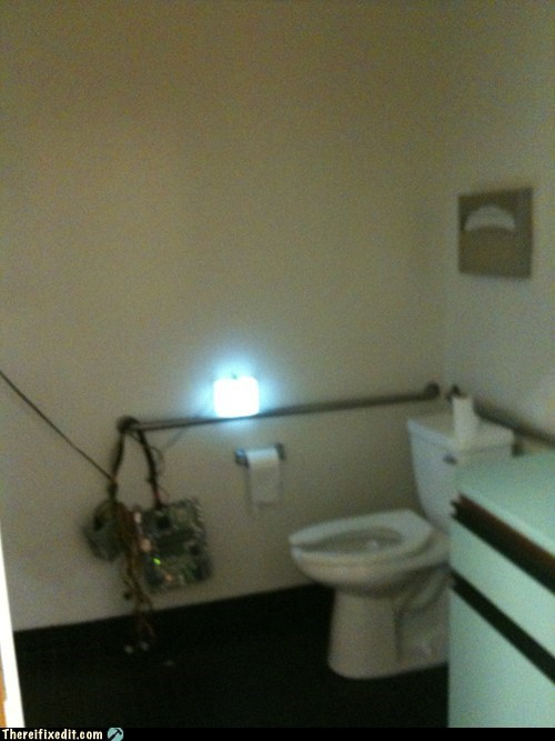 bathroom computer repair electricity lights - 5672551936
