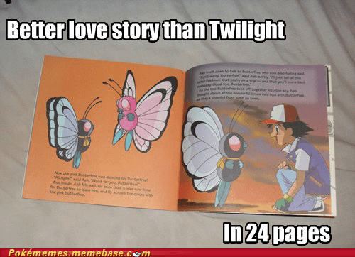 better love story than twilight book Butterfree meme Memes - 5673858816