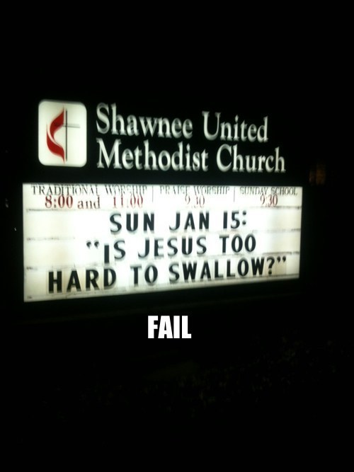 church signs innuendo jesus religion