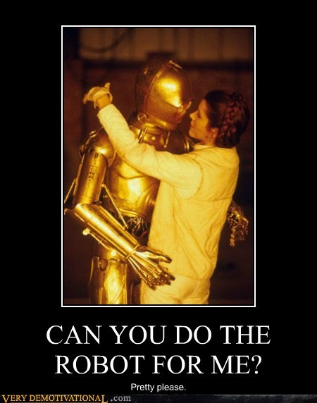 C-3PO dance hilarious leia sexy times star wars - 5674010880