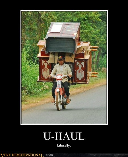 bike hilarious u-haul wtf