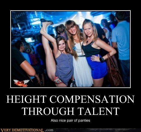 compensatoin,height,hilarious,leg,Sexy Ladies,Splits