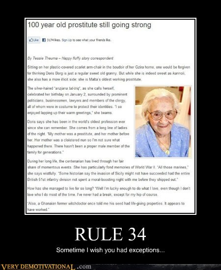 100 years old hilarious no exceptions prostitute Rule 34 - 5674683904