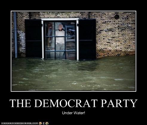 THE DEMOCRAT PARTY Under Water!