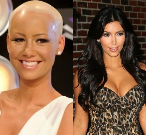 amber rose,Celebrity Beef,kanye west,kim kardashian