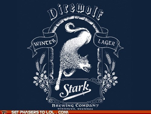 a song of ice and fire beer direwolf Game of Thrones lager stark winterfell - 5675245056
