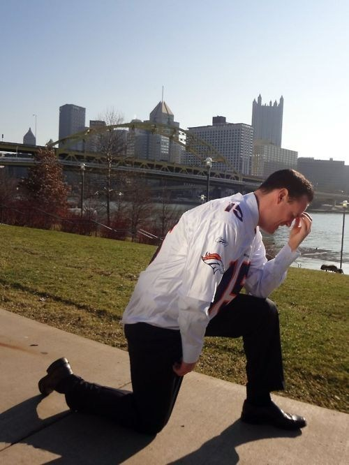 broncos,Luke Ravenstahl,steelers,tebowing,tim tebow