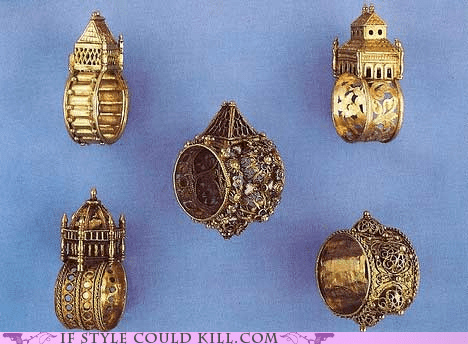 cool accessories,houses,jewish,ring of the day,rings,wedding rings