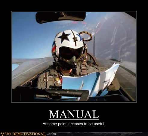 hilarious manual pilot plane