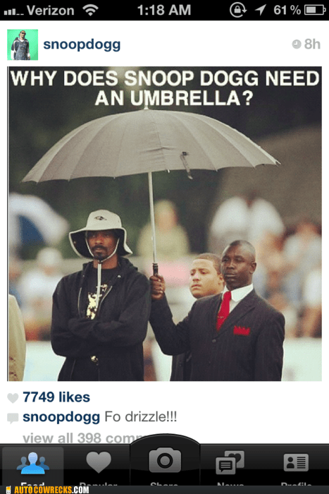 fo drizzle fo shizzle instagram joke pun shizzle snoop dogg - 5675700992