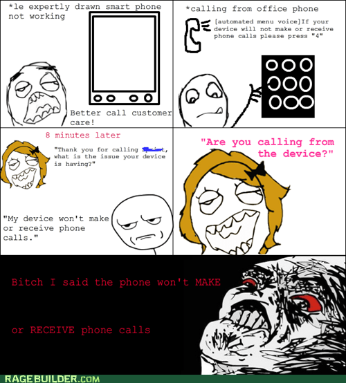 customer service phone Rage Comics raisin rage smart phone - 5675767552