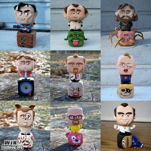 action figure arrested development back to the future breaking bad custom DIY figurine Ghostbusters nerdgasm pop culture Shaun Of the dead toy