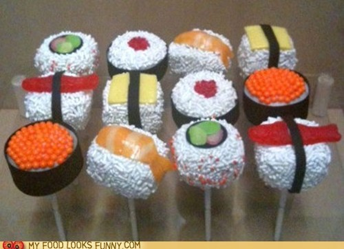 cake cake pops chocolate frosting sprinkles sugar sushi - 5675891712