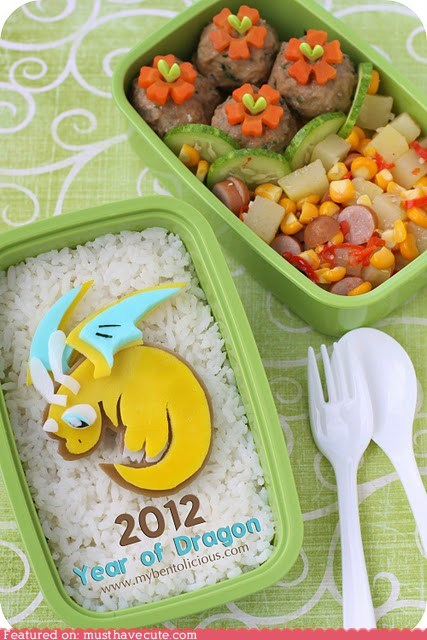 bento,box,chinese new year,dragon,epicute,lunch,meal,new year