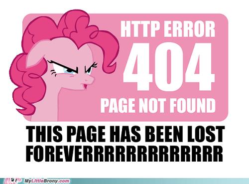 crossover error 404 forever http error pinkie pie - 5675911168