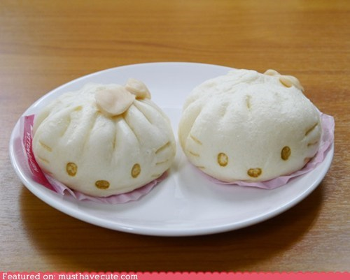 bean paste epicute hello kitty Japan steamed buns