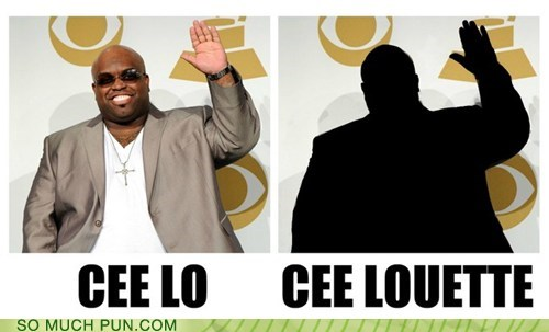 cee lo,cee-lo green,Hall of Fame,literalism,silhouette,similar sounding,suffix