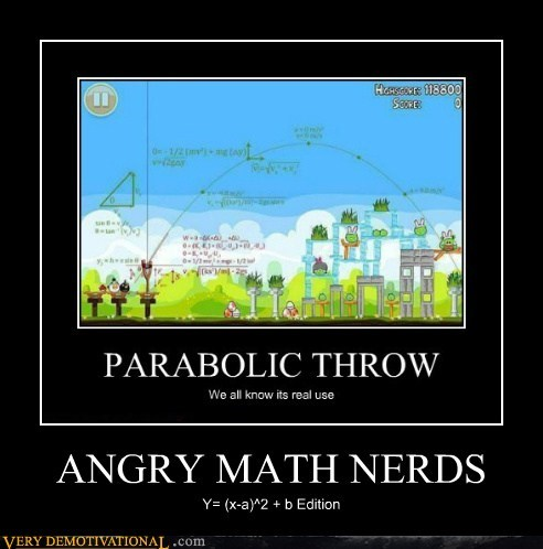 ANGRY MATH NERDS Y= (x-a)^2 + b Edition