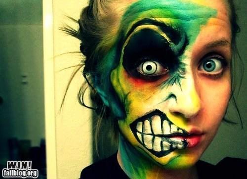 classic design face paint makeup two face - 5676290560