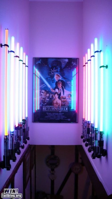 g rated lightsaber nerdgasm poster shrine star wars win