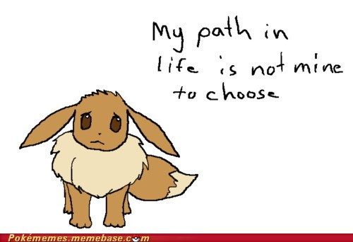 best of week,eevee,eeveelutions,evolutions,Memes,path in life,Sad