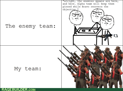 Rage Comics,snipers,team,TF2