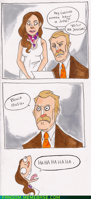 black mesa Fan Art joke portal 2 video games
