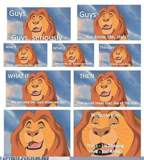 drugs high lion king mufasa seriously guys smoking