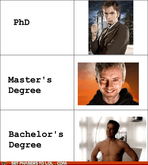 best of the week Captain Jack Harkness David Tennant degree doctor who higher education john barrowman john simm phd the doctor the master