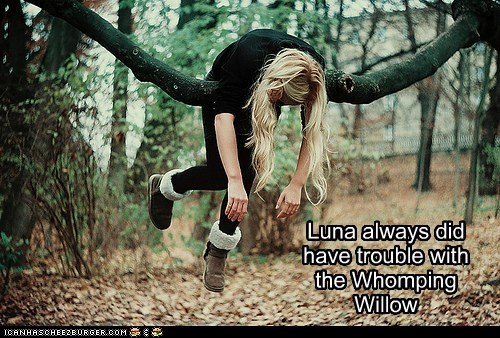 luna,ravenclaw,weird kid,whomping willow