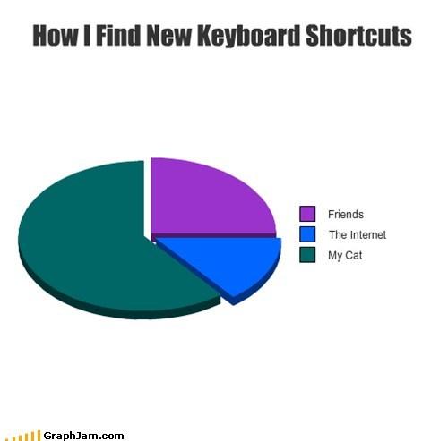 alt f4 Keyboard Cat Pie Chart shortcuts - 5677090560