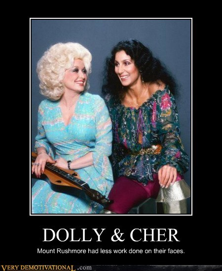 cher,dolly,face,hilarious,plastic surgery