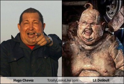 Hugo Chavez Totally Looks Like Lil Debbull