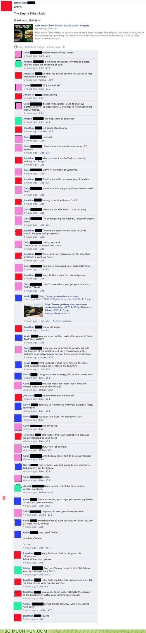 conversation,epicurean,facebook,food,Hall of Fame,star wars,status